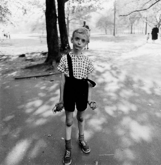 child with hand grenade diane arbus