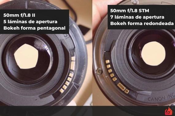 Diferentes formas de bokeh en funcion de la apertura de diafragma y objetivo utilizado