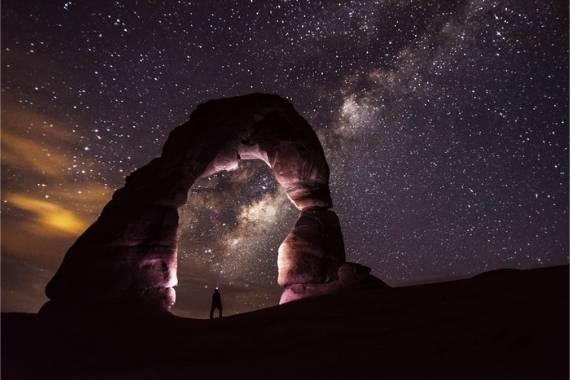fotografia cielo nocturno