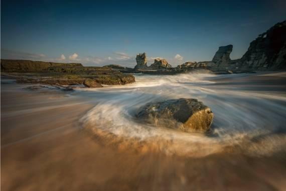 fotografiar agua en movimiento