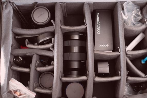 mochila de fotografo