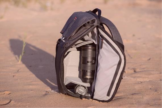 mochila pequeña camara reflex