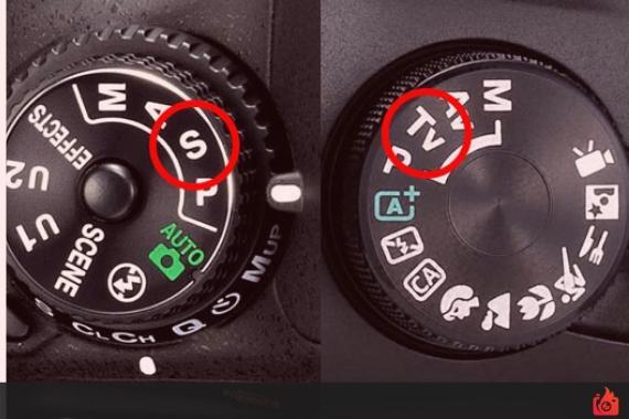 modo prioridad velocidad de obturacion dial camara digital