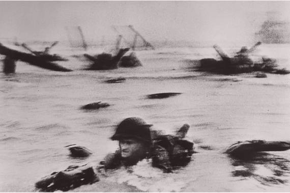 soldier in the water robert capa