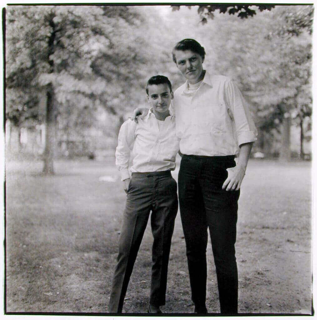 two friends in the park diane arbus